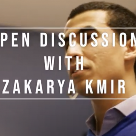 Open-discussion avec Zakarya KMIR
